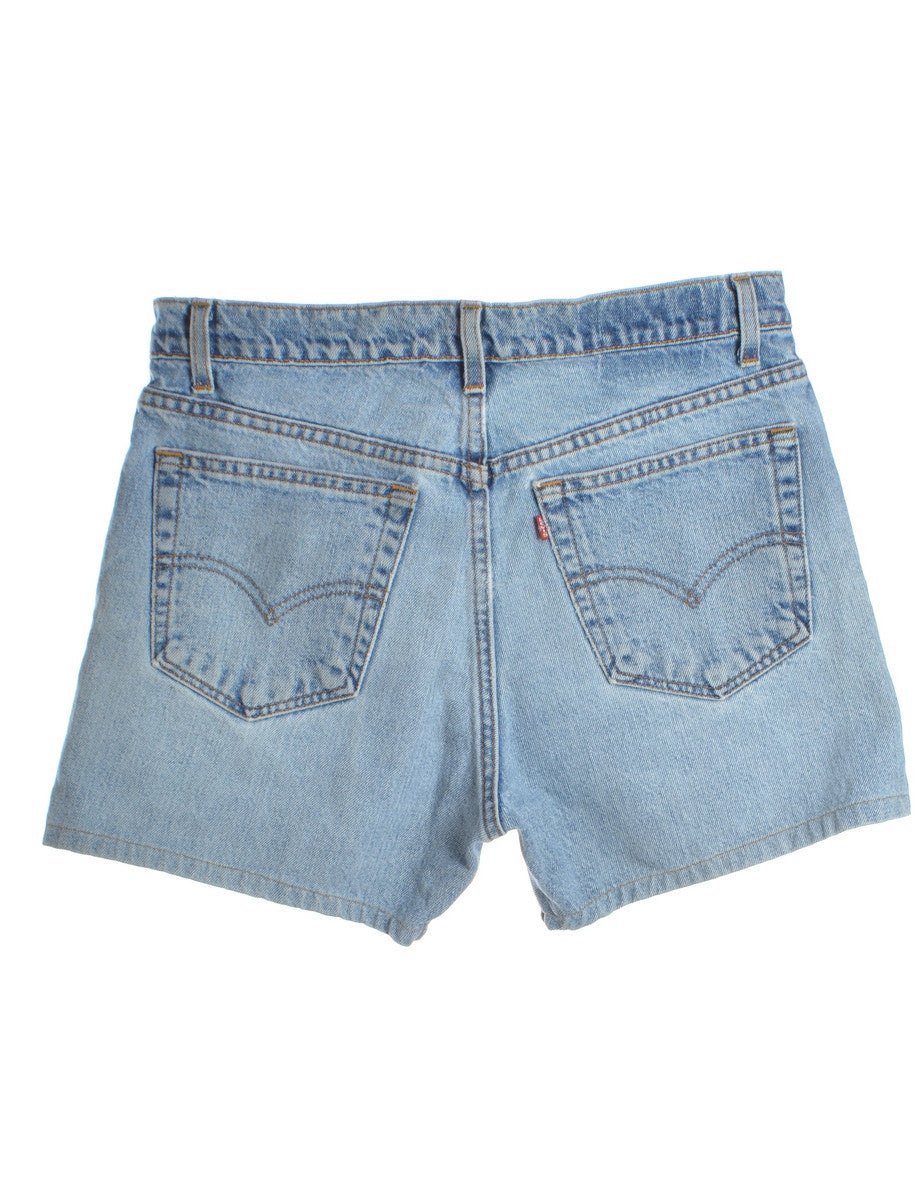 Denim Shorts Medium Wash With Pockets - Shorts - Beyond Retro