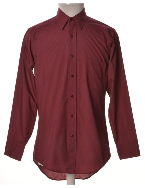 Casual Shirt Burgundy With One Pocket