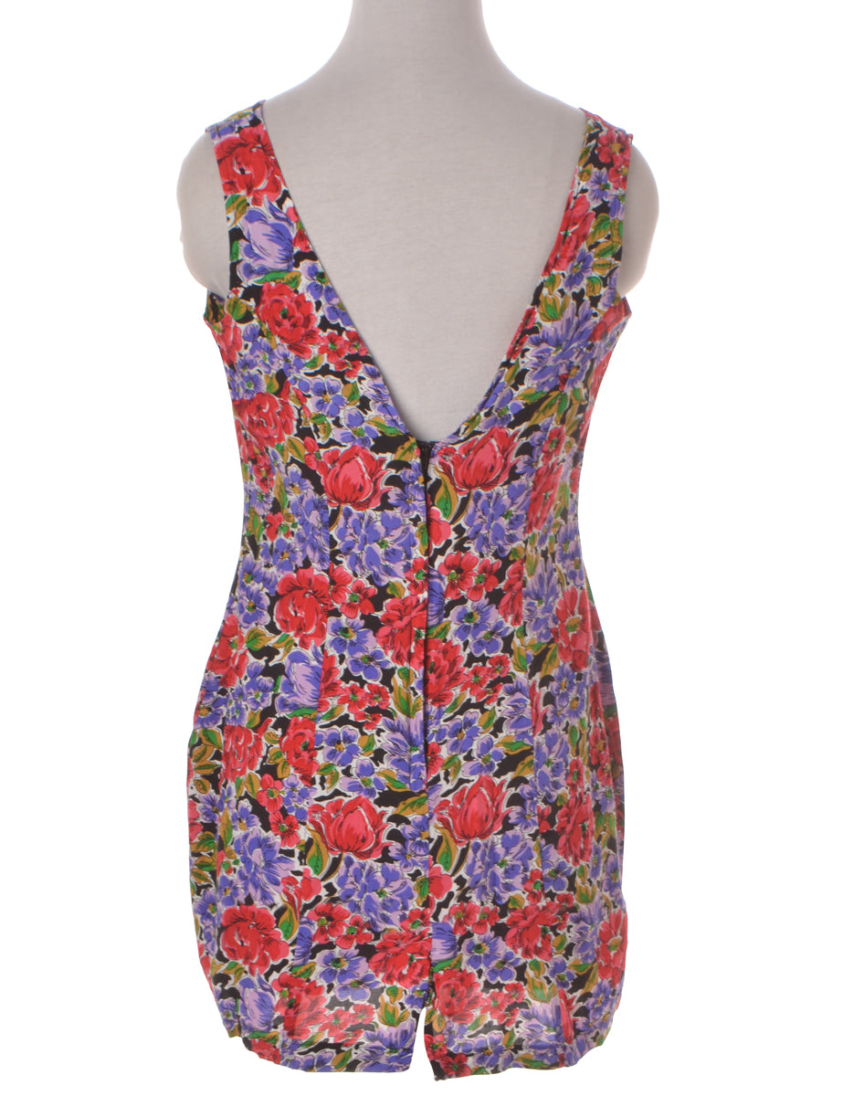Summer Dress Multi-colour With A Low Back Neckline