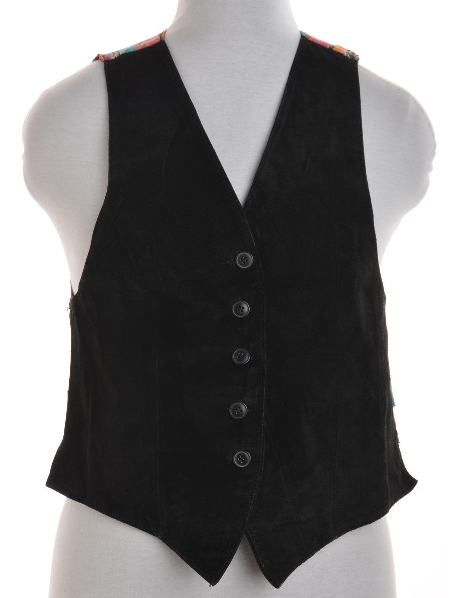 Waistcoat Black With Back Tie