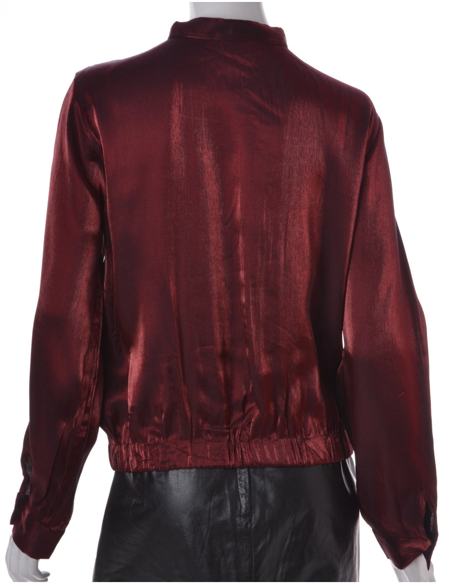 Label Maroon Blouse Bomber