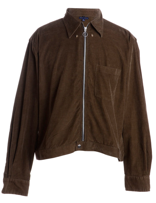 Label Corduroy Cropped Jacket