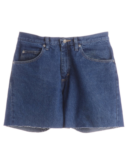 Label Denim Cut Off Shorts