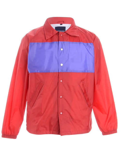 Label Freddie Contrast Panel Coach Jacket