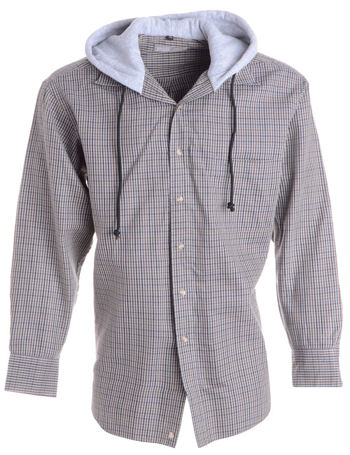 Label Grey Theo Hooded Shirt