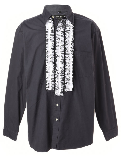 Label Long Sleeved Ruffle Shirt
