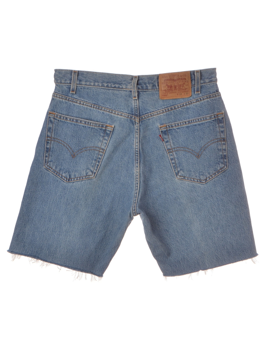 Beyond Retro Label Label Mens Cut Off Denim Shorts