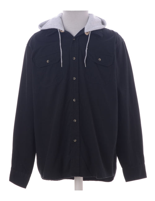 Label Navy Theo Hooded Shirt