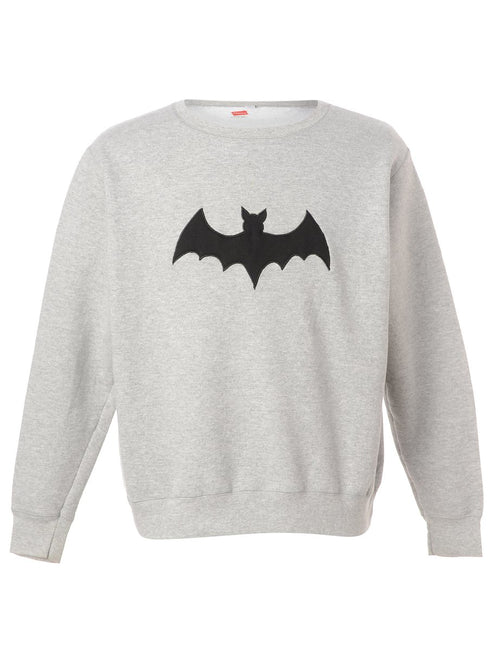 Label Bat Embroidered Sweatshirt