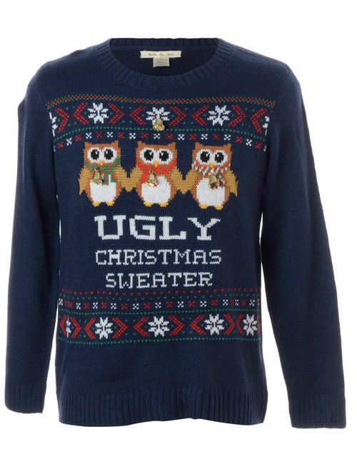 Label Christmas Jumper With Bells