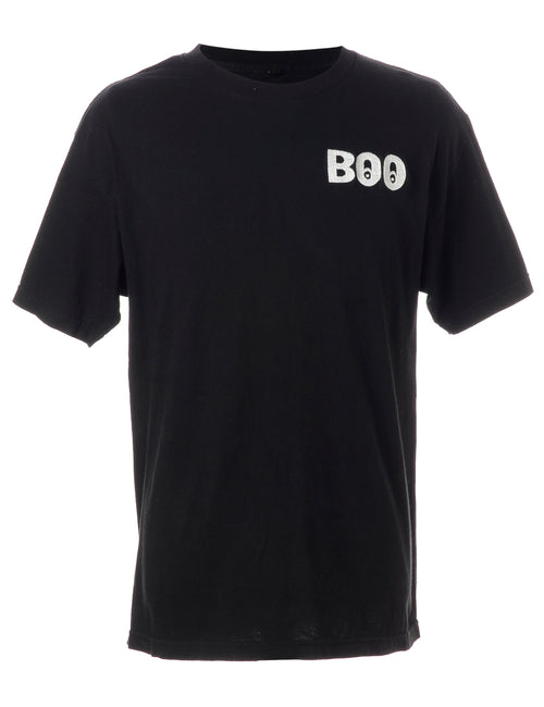 Reclaimed Embroidered Boo T-shirt