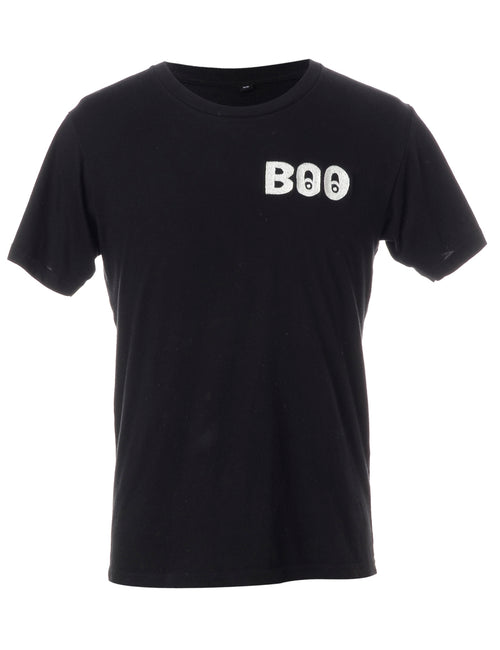 Label Embroidered Boo T-Shirt