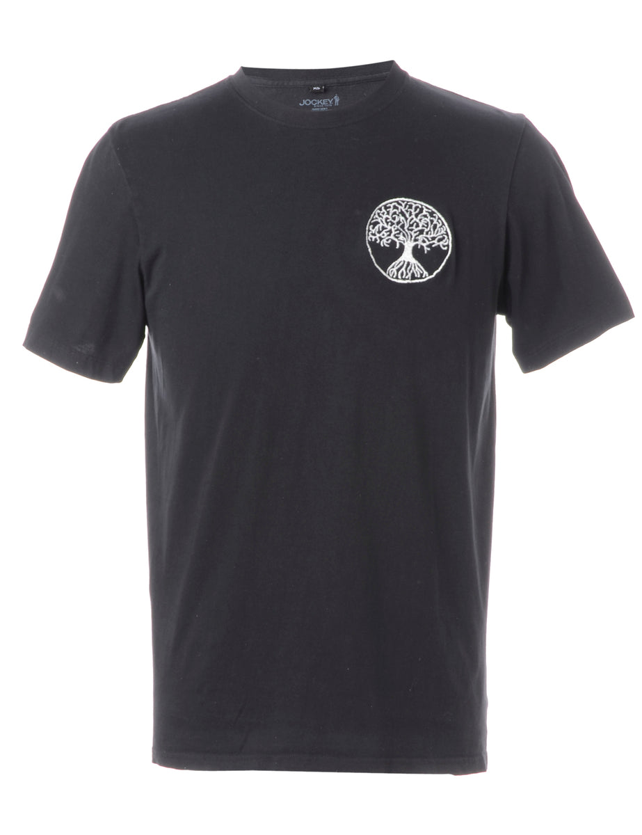 Beyond Retro Label Label Embroidered Tree of Life T-shirt