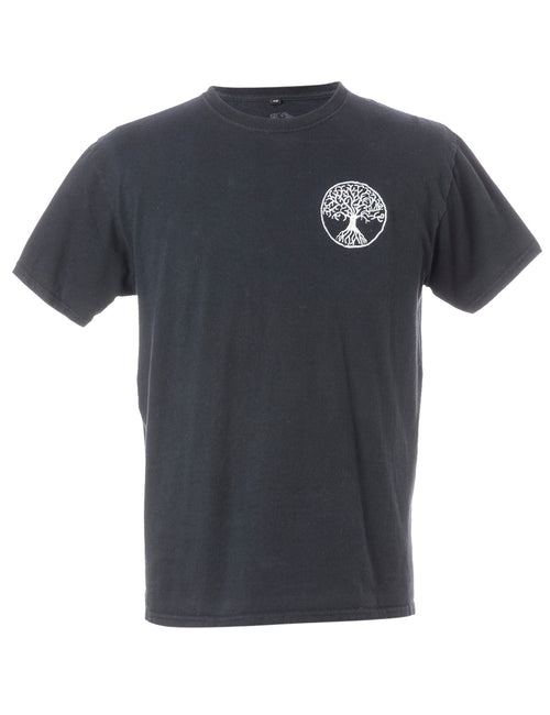 Label Embroidered Tree of Life T-shirt
