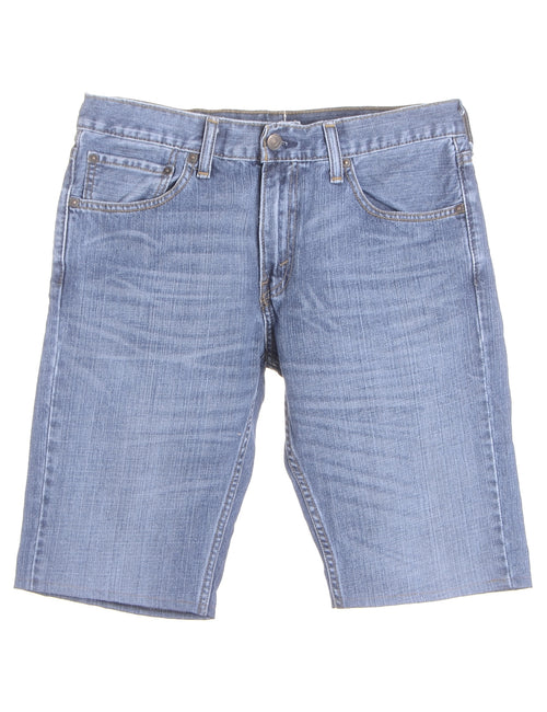 Label Hemmed Denim Shorts