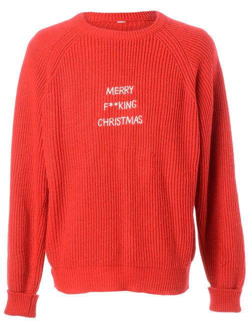 Label Merry F**king Christmas Sweater