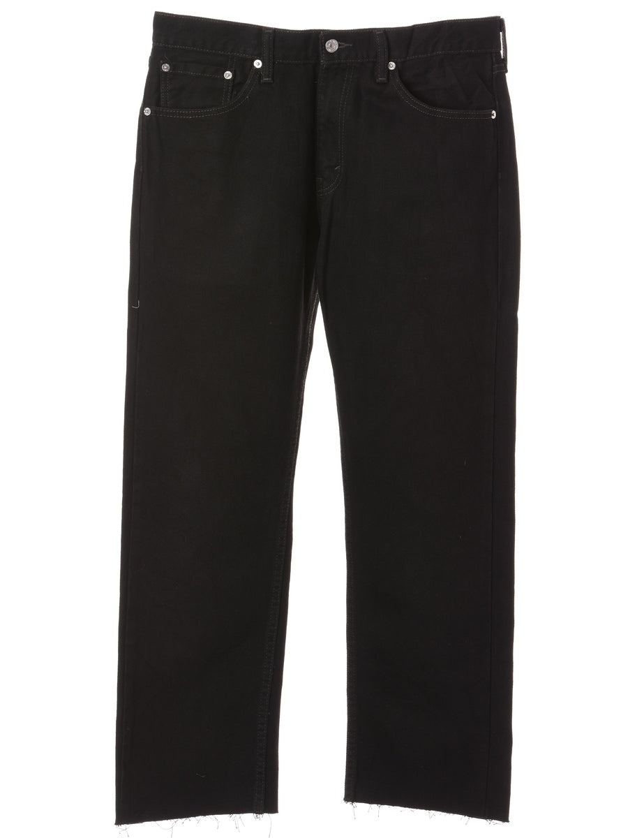 Beyond Retro Label Label Straight Leg Cropped Jeans