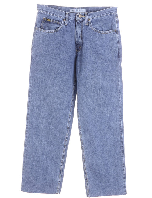 Label Straight Leg Cropped Jeans