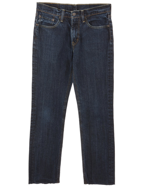 Label Tapered Cropped Jeans
