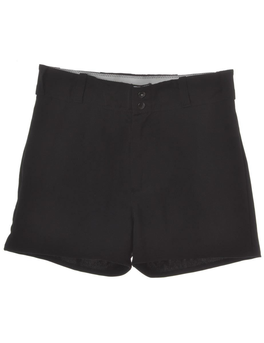 Beyond Retro Label Black Baseball Shorts