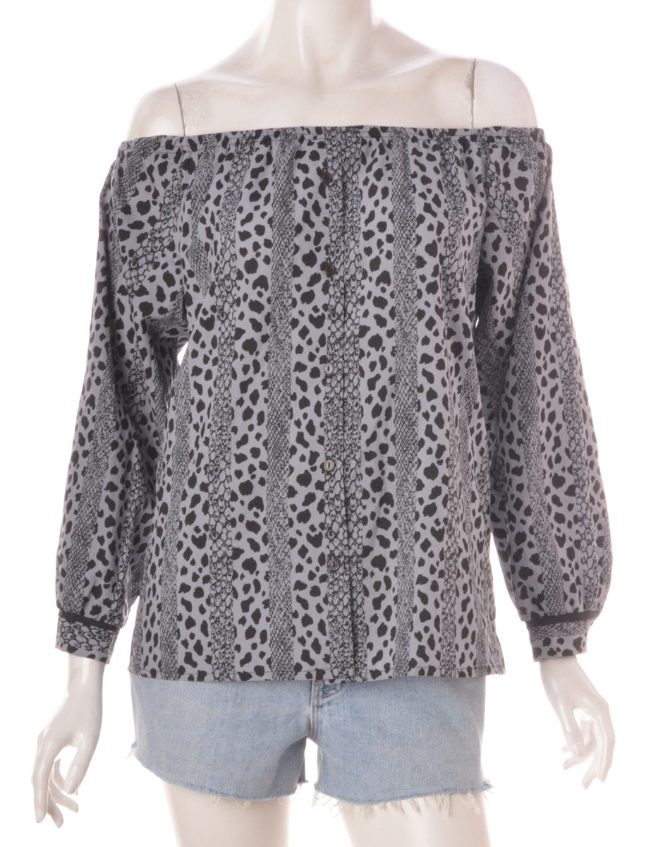 Beyond Retro Label Label Anita Printed off the Shoulder Blouse