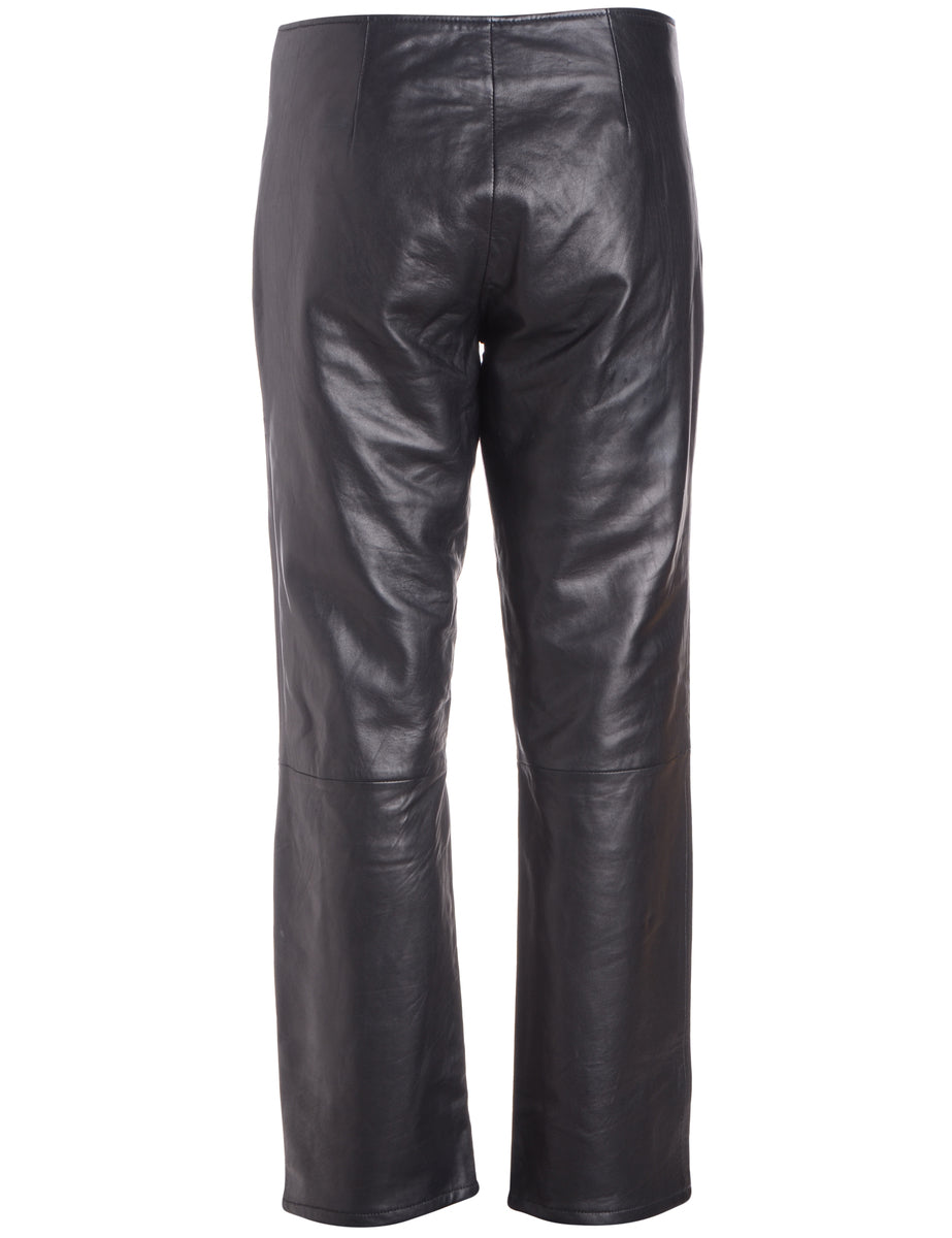 Beyond Retro Label Label Bella Leather Cropped Trouser
