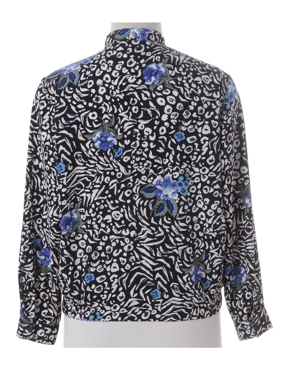 Beyond Retro Label Label Blouse Floral Bomber