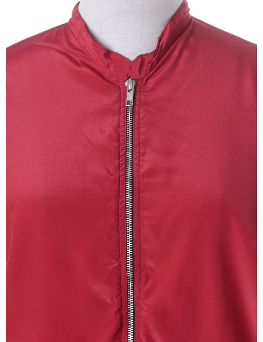Beyond Retro Label Label Blouse Magenta Bomber