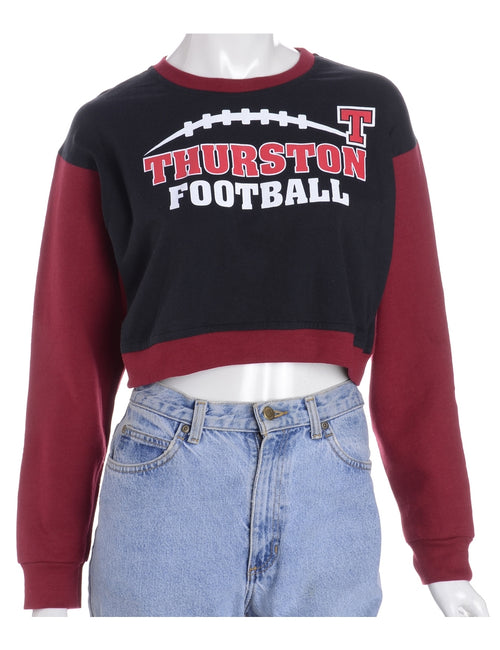 Label Caroline Cropped Sports T-shirt Front Sweatshirt