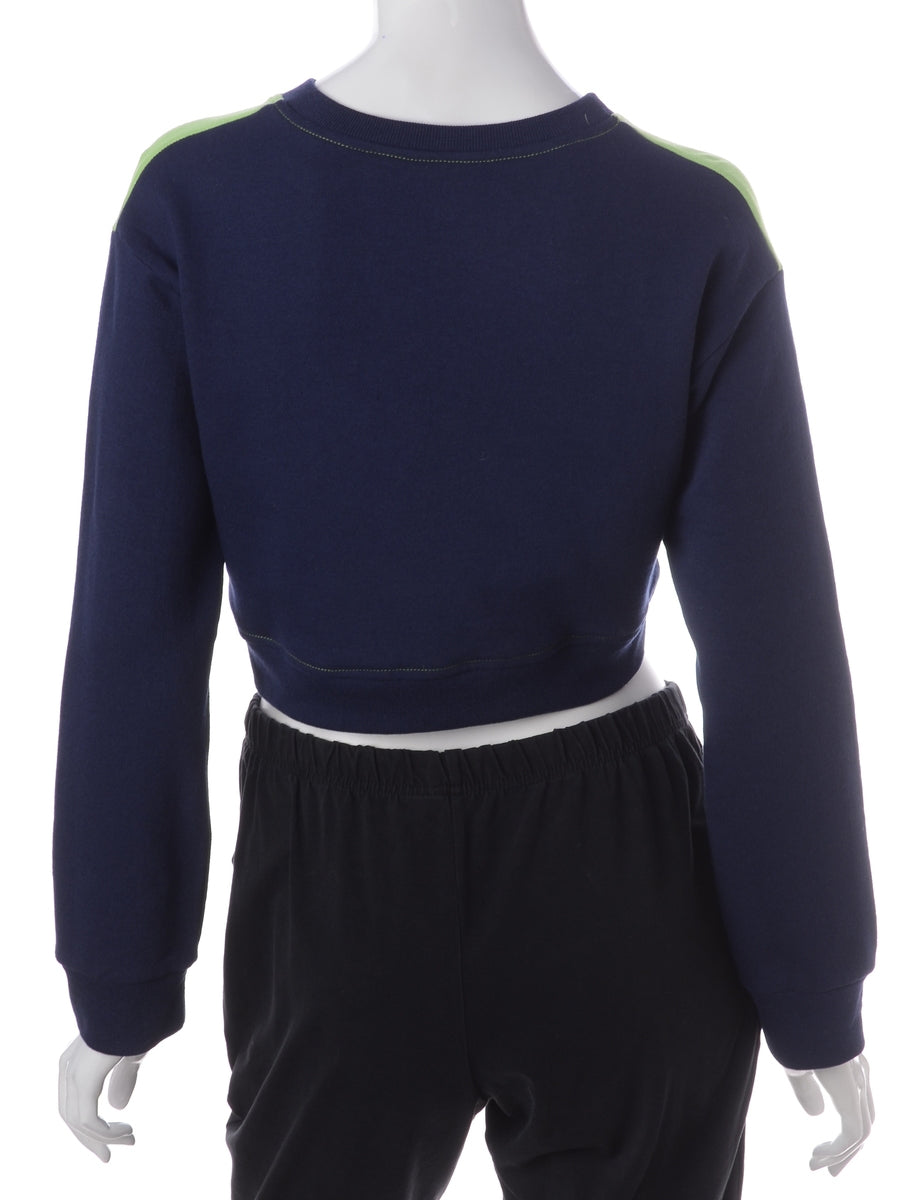 Beyond Retro Label Label Caroline Cropped Sports T-shirt Front Sweatshirt