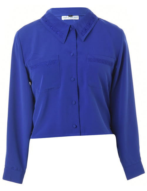 Label Claire Cropped Long Sleeve Shirt