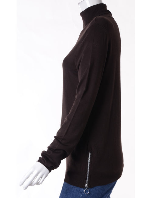 Label Eloise Zip Hem Turtleneck