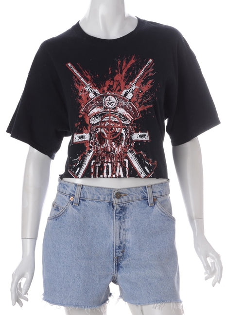 Label Kim Printed Cropped Tee