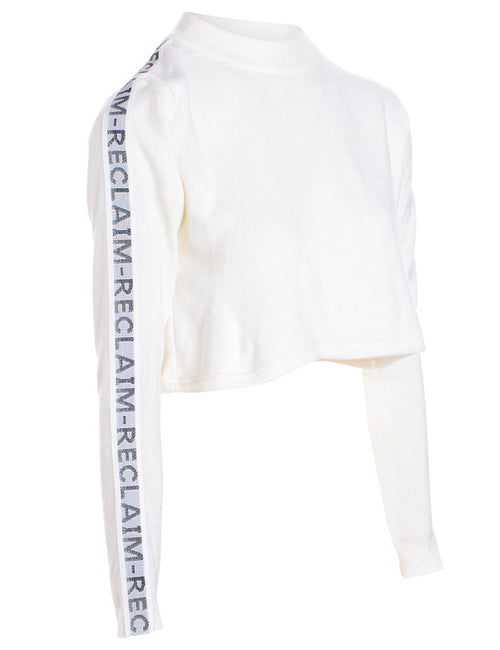 Label Long Sleeved Kira Cropped Tape Knit