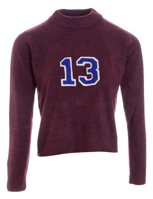 Label Plum Varsity Knit