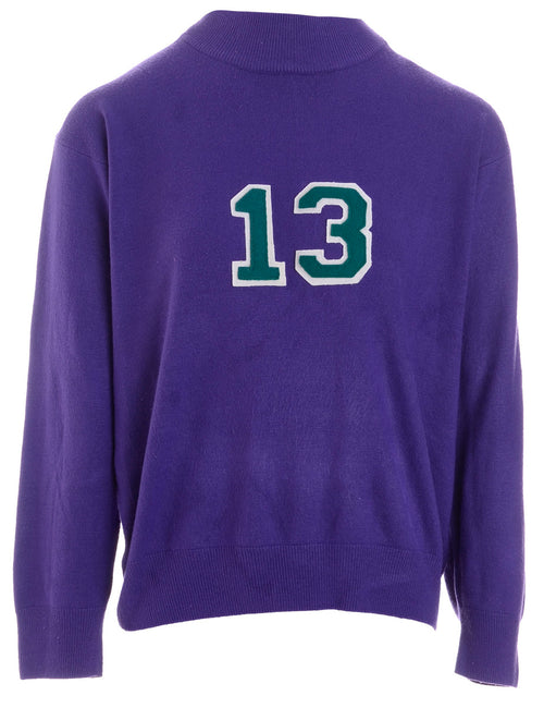 Label Purple Varsity Knit
