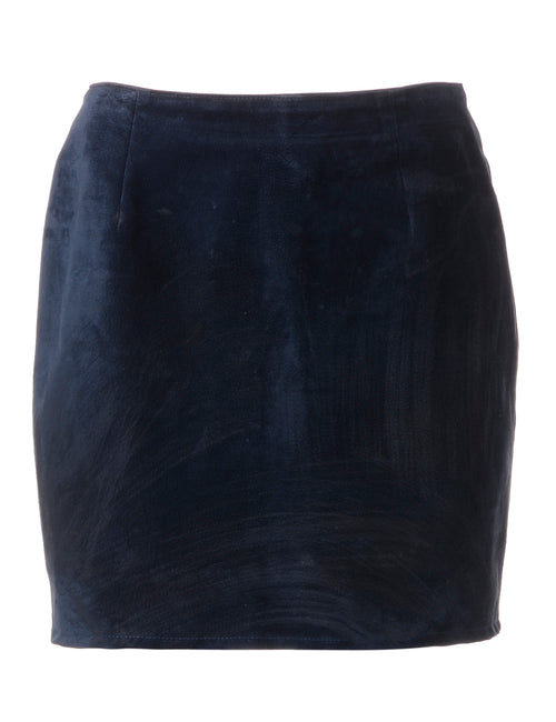 Label Robyn Mini Suede Skirt