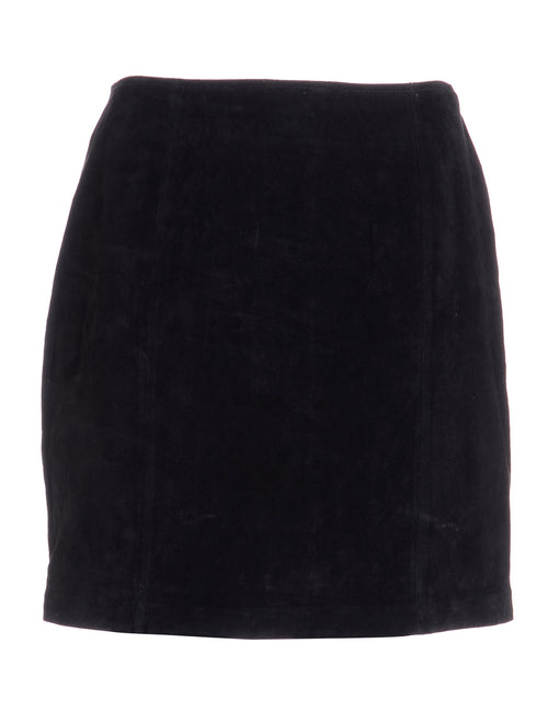 Label Robyn Suede Skirt