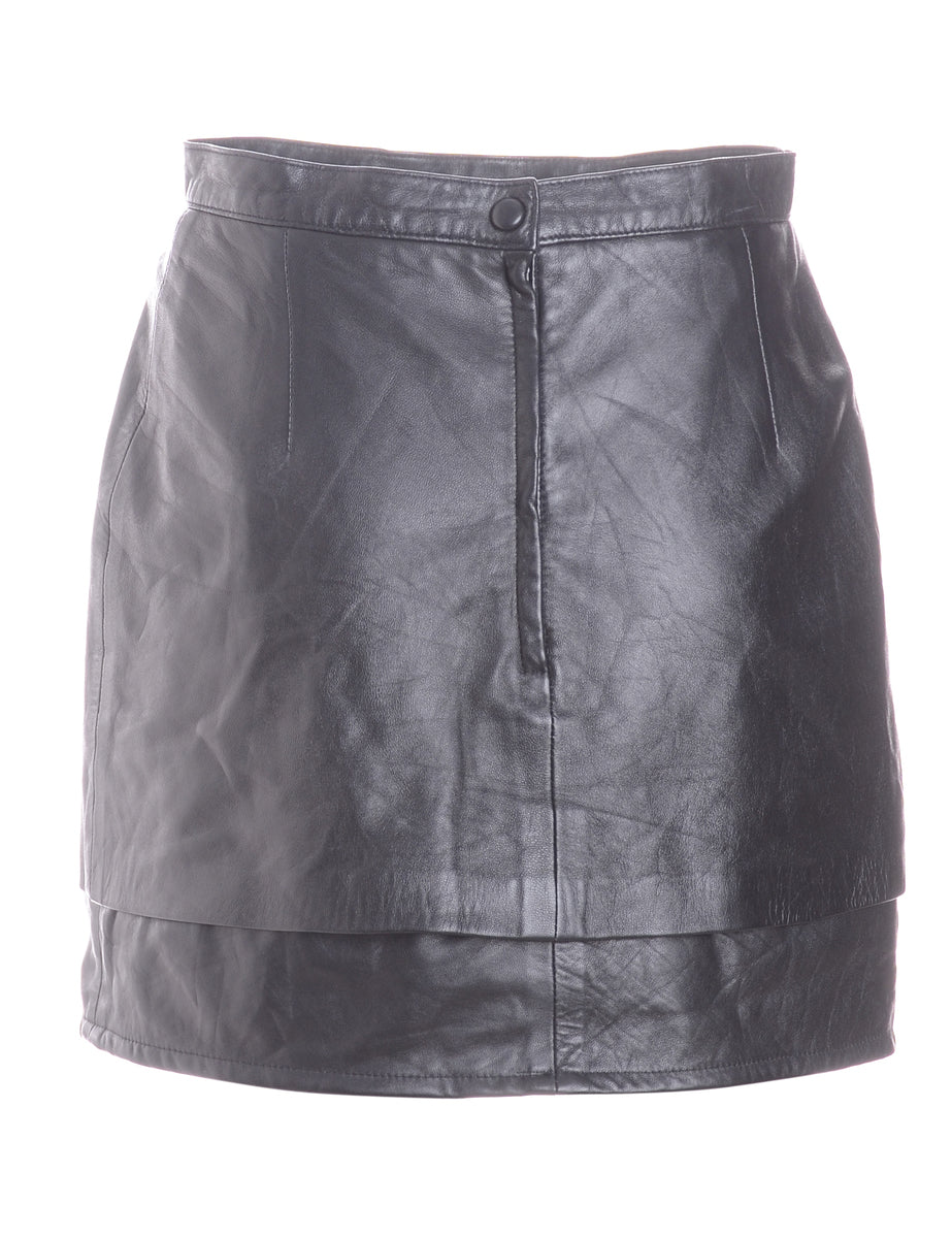 Beyond Retro Label Label Roxy Mini Leather Skirt