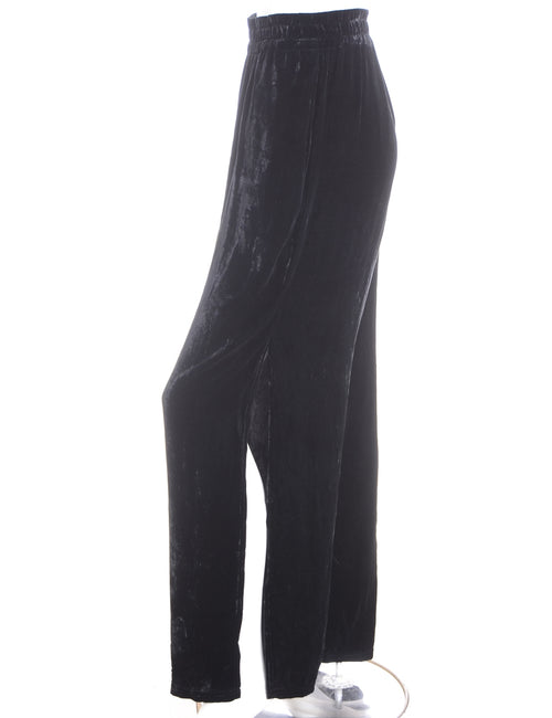 Label Split Side Velvet Trousers