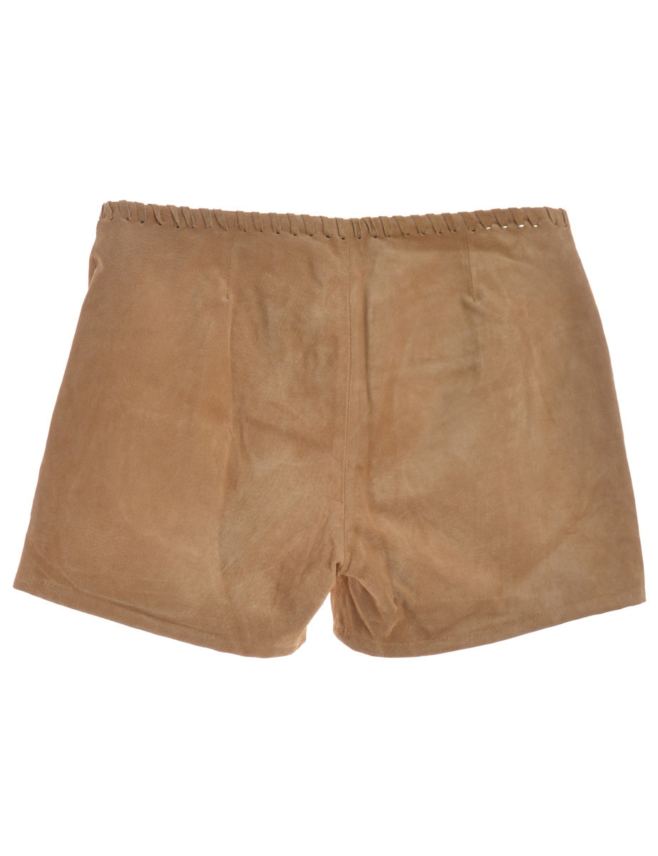 Beyond Retro Label Soft Suede Shorts