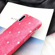 Heart Check iPhone Case for iPhone X