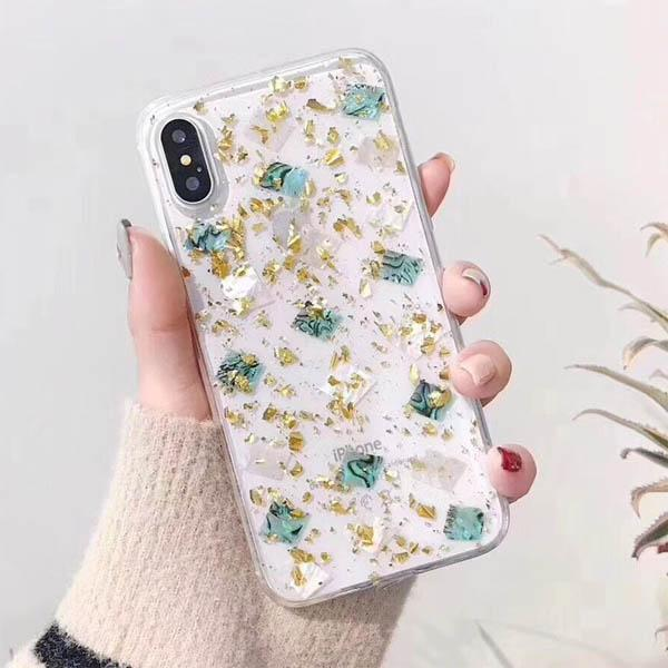 Gltter and Gold iPhone Case for iPhone X
