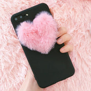 Fluffy Heart Case iPhone