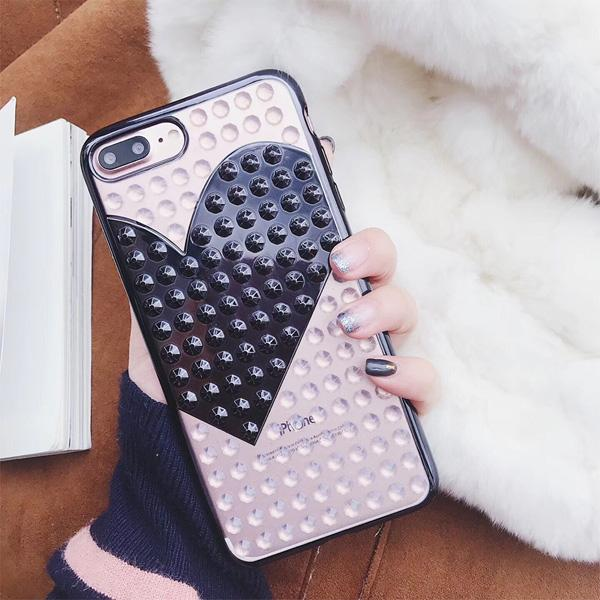 Studded Heart Case for iPhone X