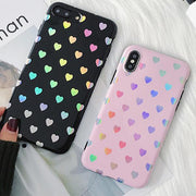Love Me Rainbow Heart Case for iPhone X