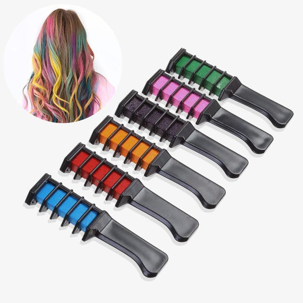Professional Temporary Hair Dye Combs - 6 Colors!