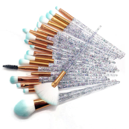 20 piece Diamond Makeup Brush Set