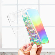 Bubble Holographic Heart Case for iPhone X