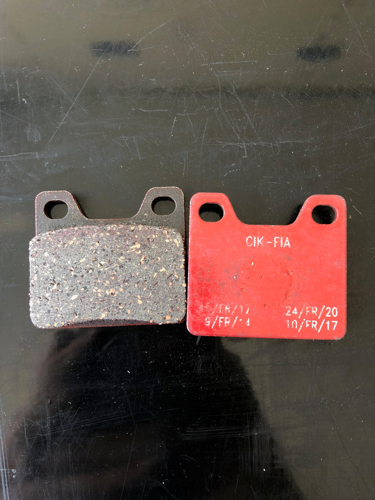 front brake pad 41x30mm red
